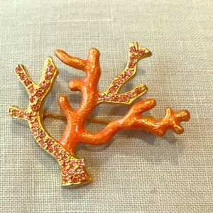 Monet Coral Brooch🌞